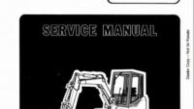 BOBCAT 116 HYDRAULIC EXCAVATOR WORKSHOP SERVICE REPAIR MANUAL