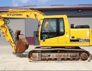 Hyundai R140LC-7 Crawler Excavator Service Repair Workshop Manual 4G