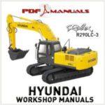 Hyundai Robex R290LC-3 Excavator Workshop Repair manual