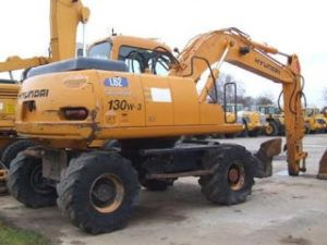 Hyundai Wheel Excavator Robex 130W-3 Workshop Service Complete Manual
