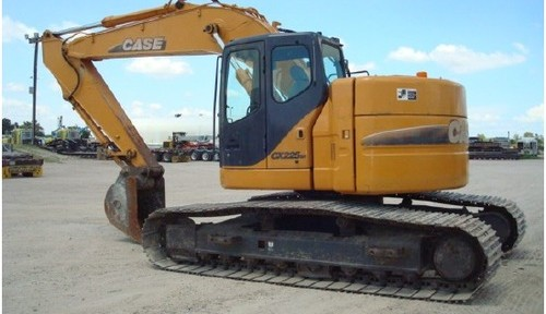 CASE CX225SR Crawler Excavator Service Repair Workshop Manual