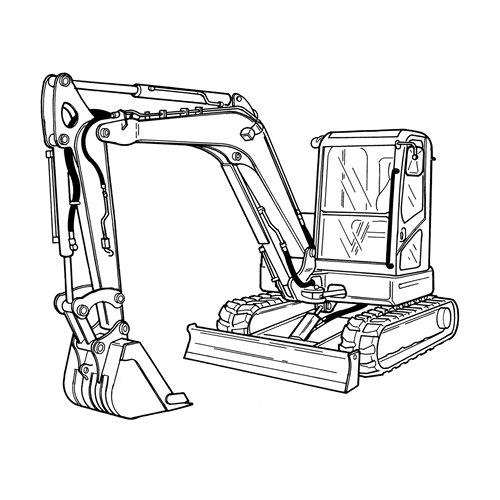 Doosan E80 Compact Excavator Service Parts Catalogue Manual Cat