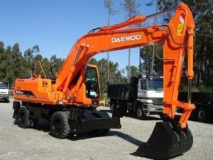 Daewoo Doosan Solar 210w-v Wheeled Excavator Service Parts & Electrical Manual
