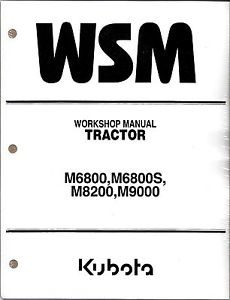 Kubota M6800 M8200 M9000 Tractor Workshop Service Manual
