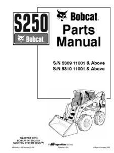 Bobcat S250 Parts Catalog Pdf Manual Download