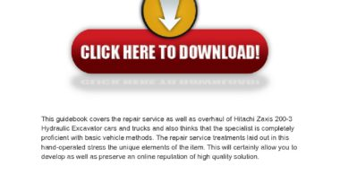 Hitachi Zaxis 200-3 Hydraulic Excavator Service Manual