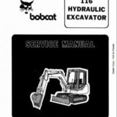 BOBCAT 116 HYDRAULIC EXCAVATOR WORKSHOP SERVICE REPAIR MANUAL