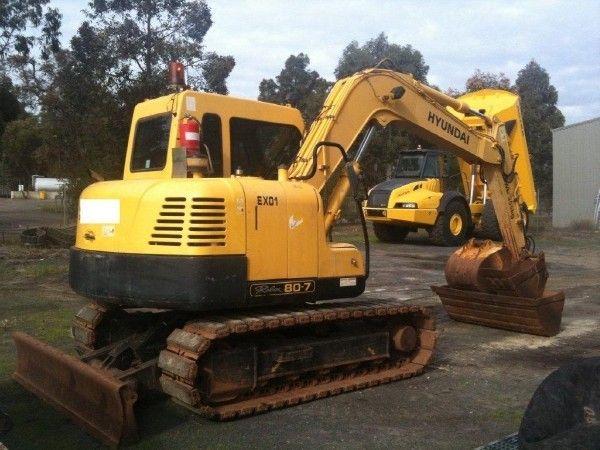 Hyundai Crawler Excavator Robex 80-7A R80-7A Service Repair Complete Manual