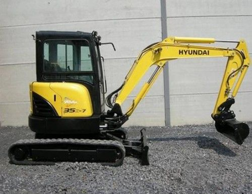 Hyundai Crawler Mini Excavator Robex 35Z-7A Operating Manual