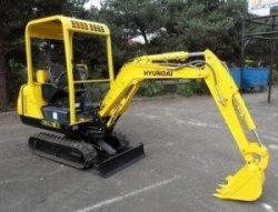 Hyundai Crawler Mini Excavator Robex 16-7 Complete Manual